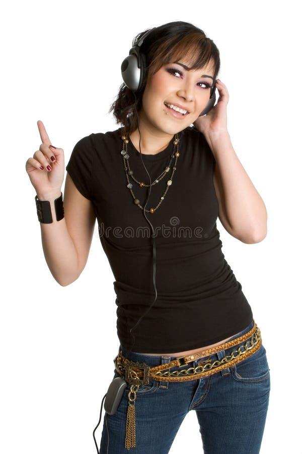 Menina de escuta da música fotografia de stock royalty free