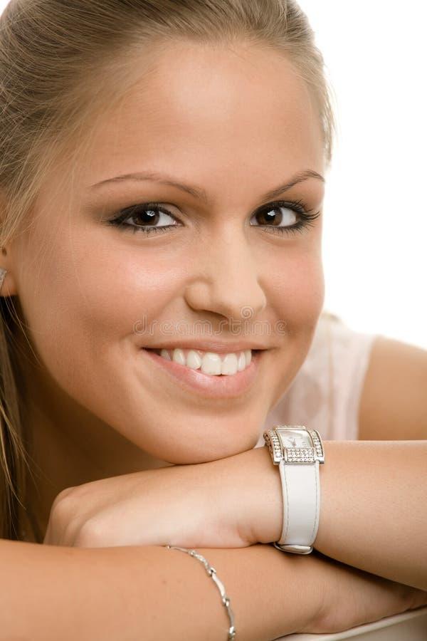 Menina de faculdade bonita foto de stock royalty free