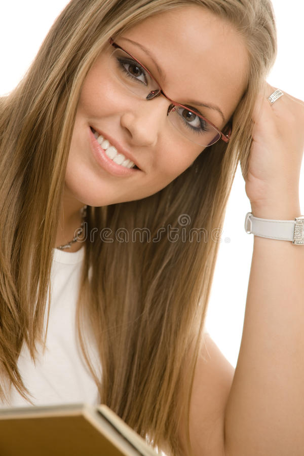 Menina de faculdade bonita fotos de stock