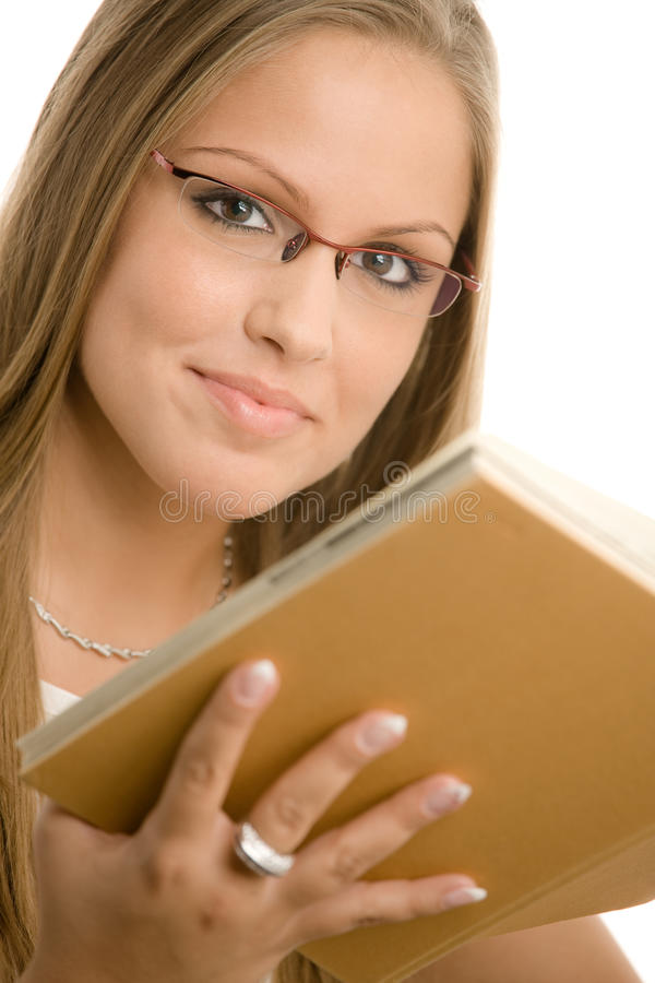 Menina de faculdade bonita imagens de stock
