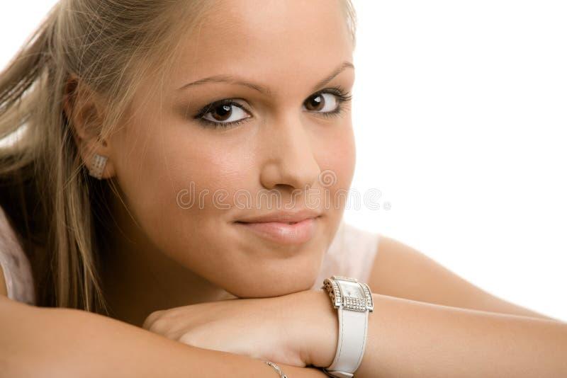 Menina de faculdade bonita foto de stock
