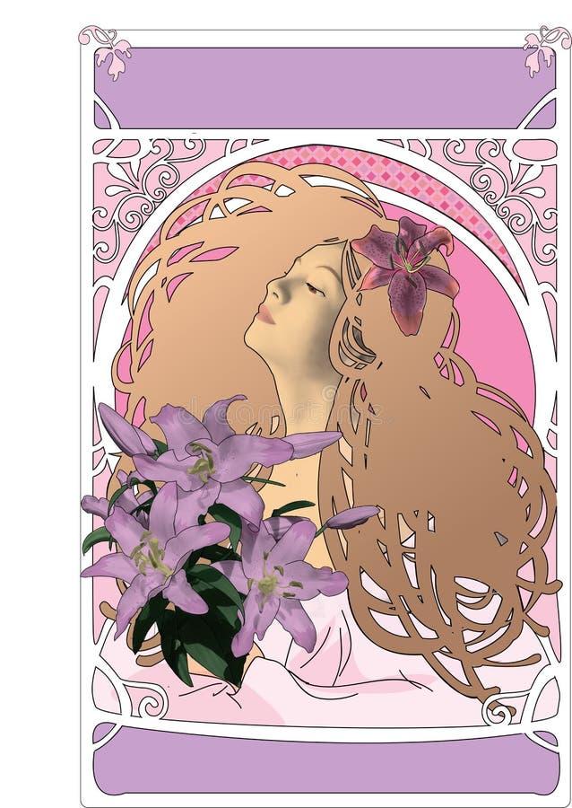 Menina de flor ilustração royalty free