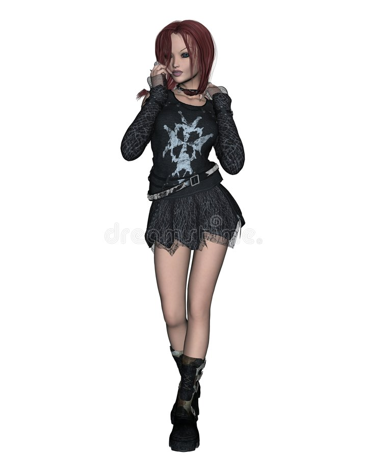 Menina de Goth - 1 ilustração royalty free