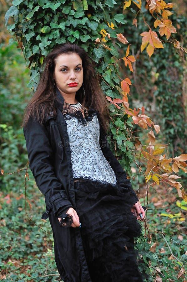 Menina de Goth fotografia de stock royalty free