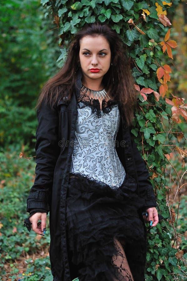 Menina de Goth imagem de stock royalty free