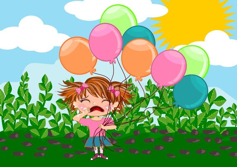 Menina de grito ilustração royalty free
