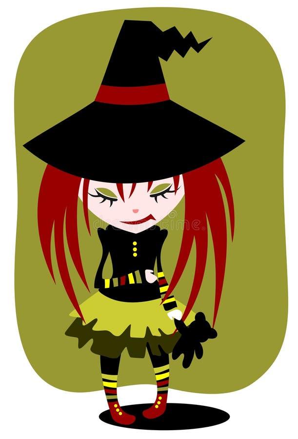 Menina de Halloween ilustração royalty free