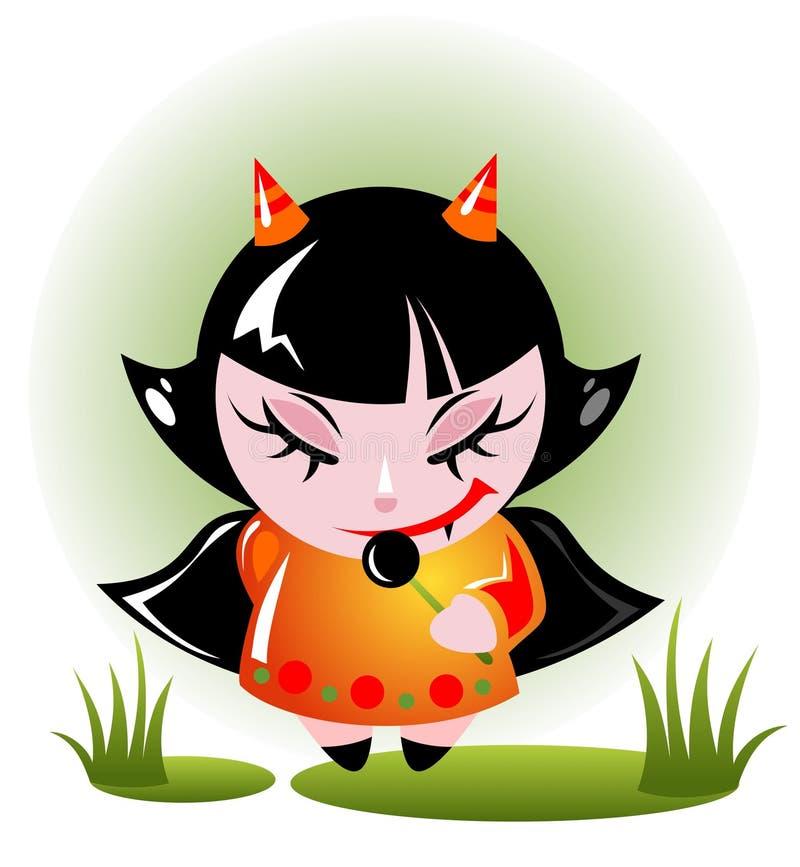 Menina de Halloween ilustração stock