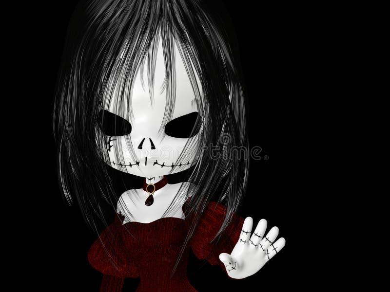 Menina de Halloween Goth ilustração do vetor