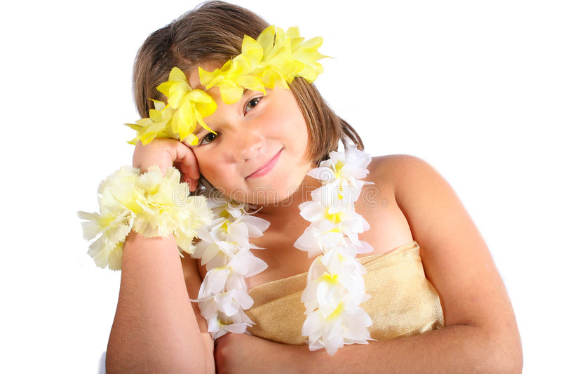 Menina de Havaí fotos de stock royalty free