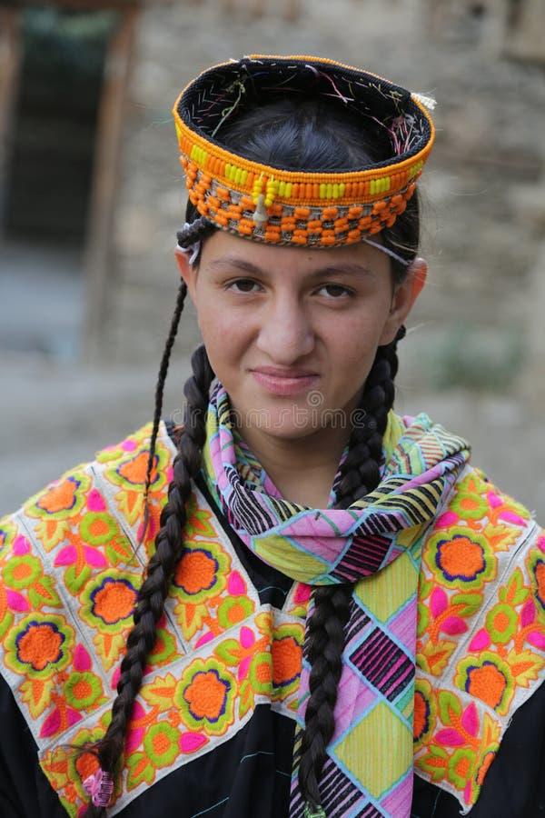 Menina de Kalash, em Chitral, Paquistão fotografia de stock royalty free