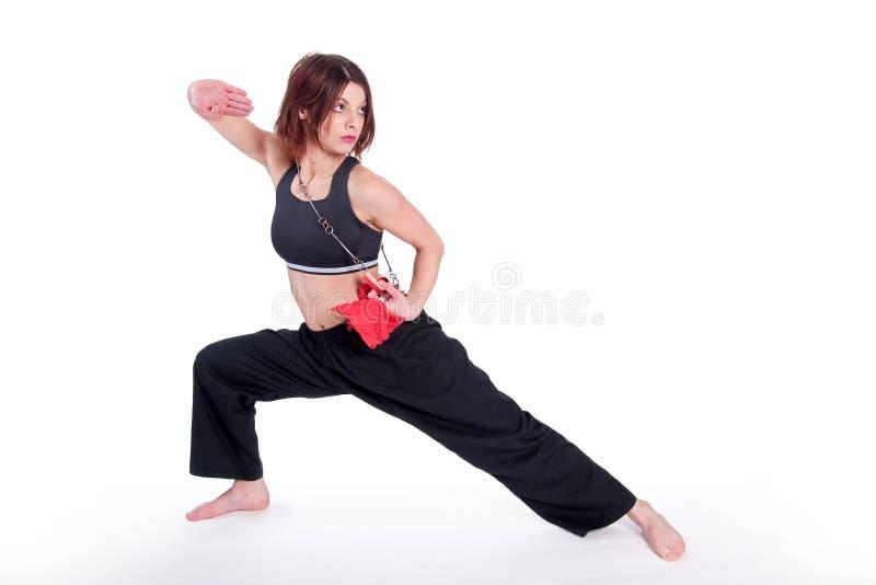 Menina de Kungfu foto de stock