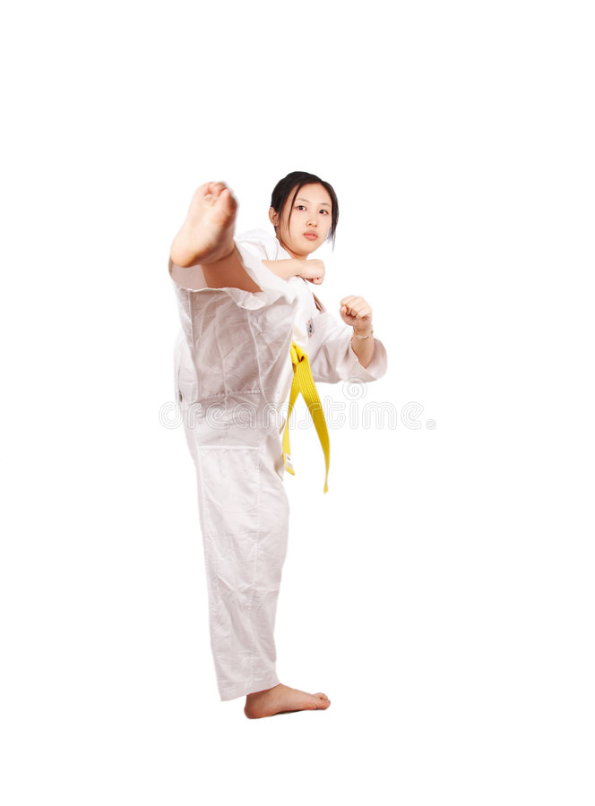 Menina de Kungfu imagem de stock royalty free