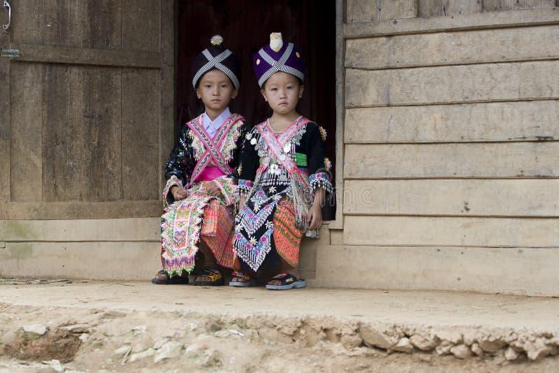 Menina de Laos Hmong foto de stock royalty free