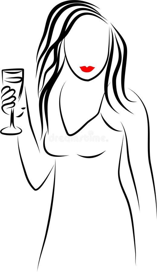 Menina de partido ilustração royalty free