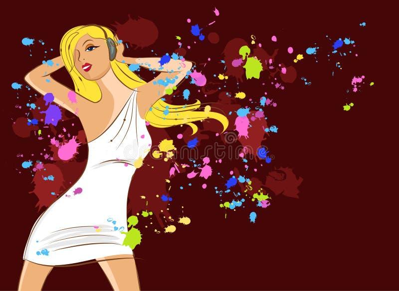 Menina de partido 'sexy' do disco - 8 ilustração royalty free