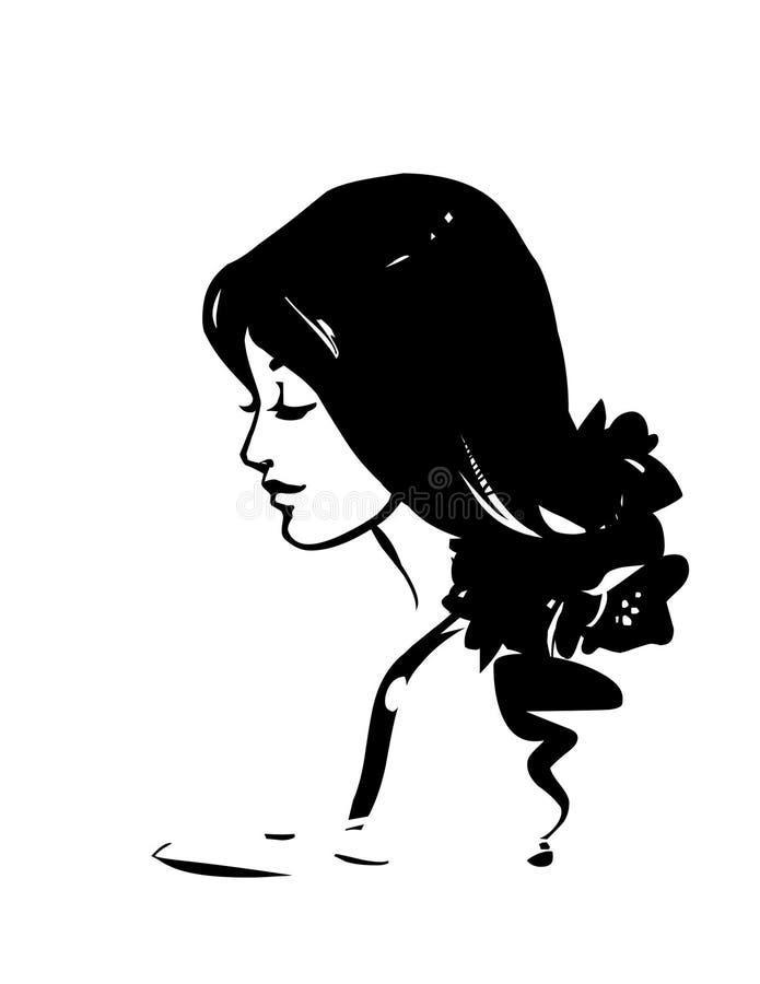 Menina de relaxamento nos termas ilustração royalty free