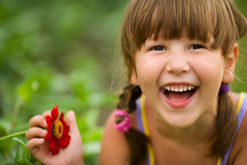 Menina de riso imagem de stock royalty free