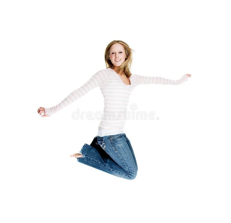 Menina de salto imagem de stock royalty free