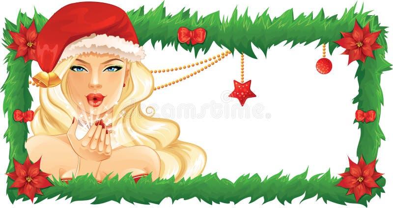 Menina de Santa ilustração royalty free