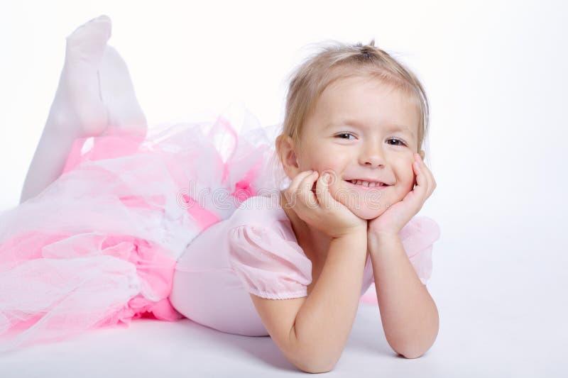 Menina de sonho pequena bonito imagens de stock