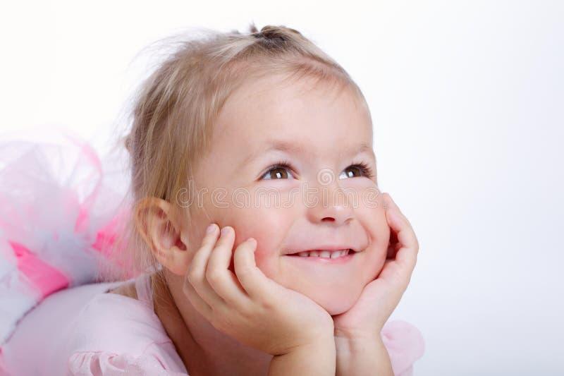 Menina de sonho pequena bonito imagens de stock royalty free