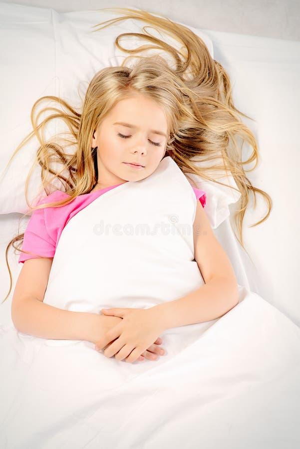 Menina de sono foto de stock
