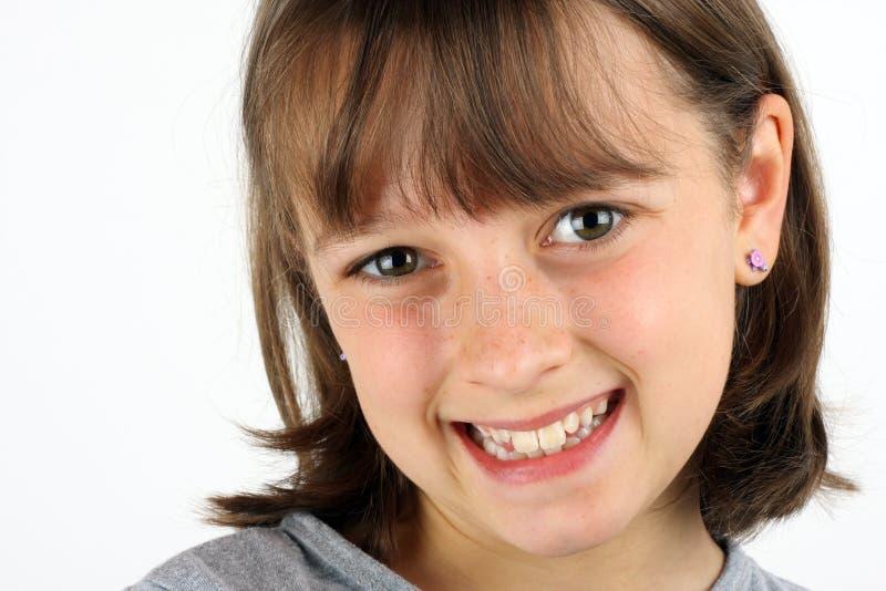 Menina de sorriso imagens de stock