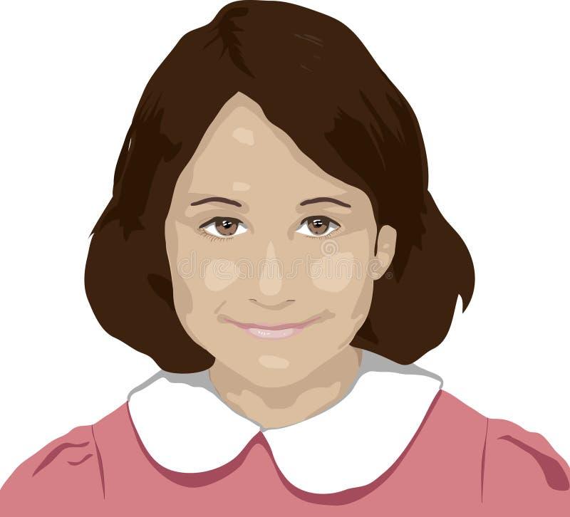 Menina de sorriso ilustração royalty free