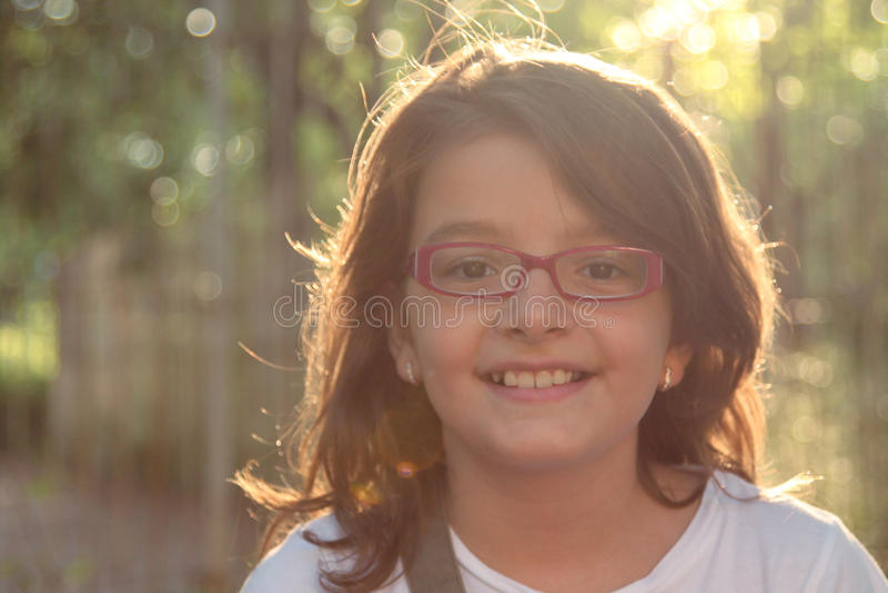 Menina de sorriso fotos de stock royalty free