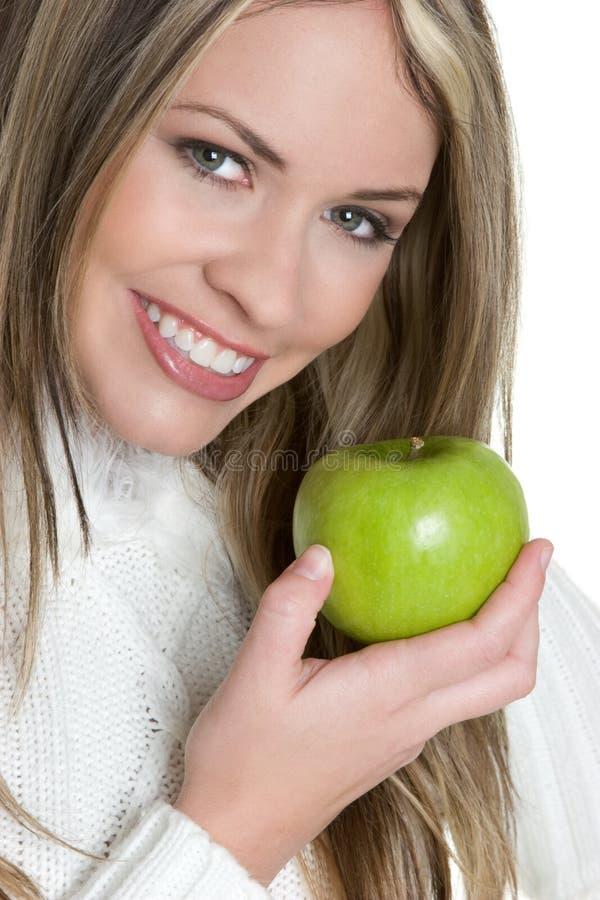 Menina de sorriso de Apple foto de stock royalty free