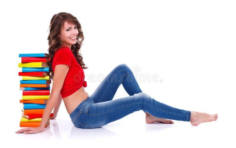 Menina de sorriso do estudante fotos de stock
