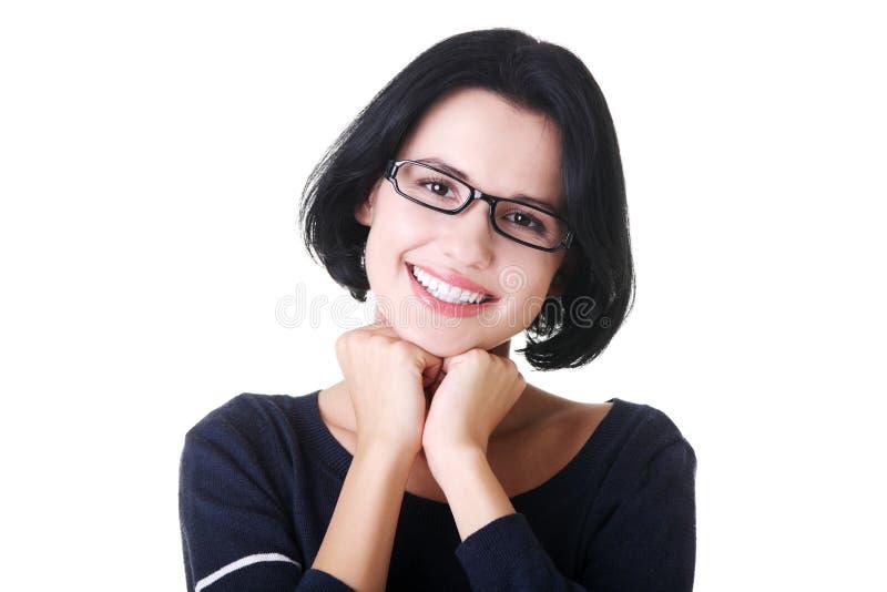 Download Menina De Sorriso Do Estudante Na Roupa Ocasional Imagem de Stock - Imagem de lifestyle, inteligência: 29827021
