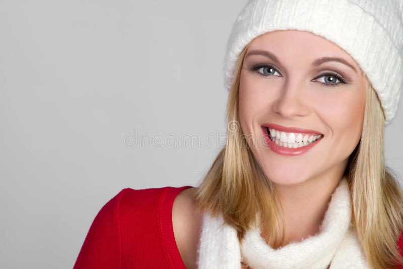Menina de sorriso do inverno fotos de stock