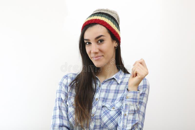 Menina de sorriso do moderno fotos de stock royalty free