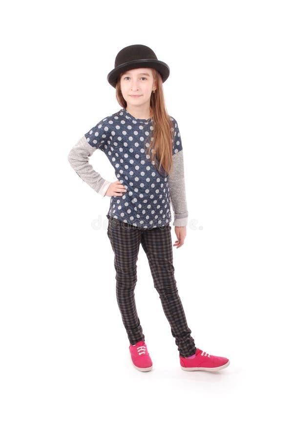 Menina de sorriso do retrato imagem de stock