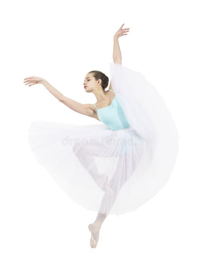 A menina de sorriso nova está dançando o bailado imagem de stock royalty free