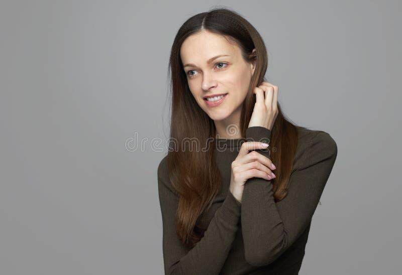 Menina de sorriso nova fotografia de stock