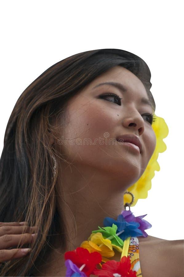 Menina de Tahitian fotografia de stock