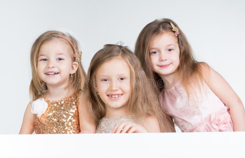 Menina de três crianças fotografia de stock