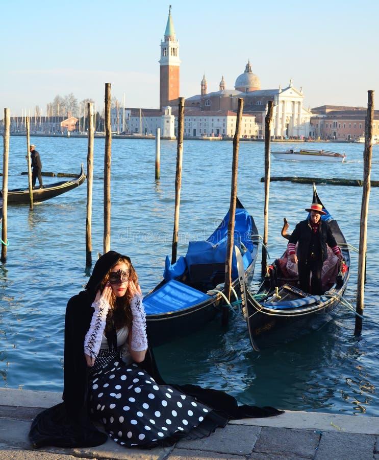 Menina de Veneza imagens de stock