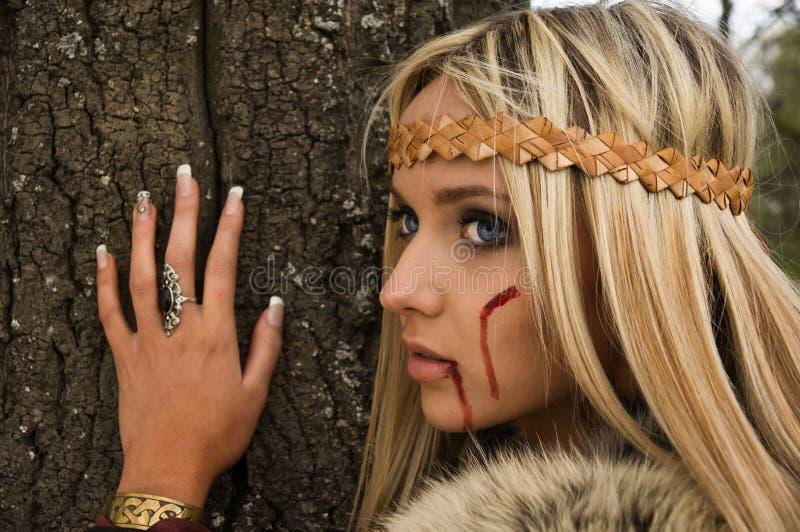Menina de Viquingue imagens de stock royalty free