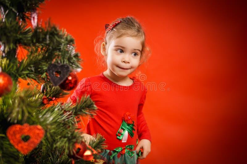 Download A Menina Decora A árvore De Natal Foto de Stock - Imagem de feliz, fêmea: 80100908