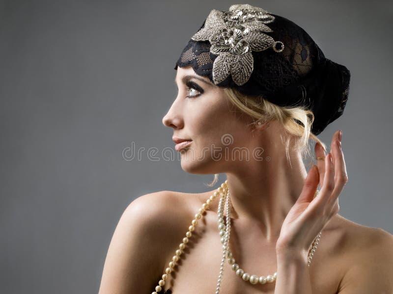 Menina denominada retro fotos de stock royalty free