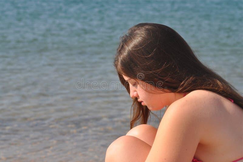 Menina deprimida fotografia de stock royalty free