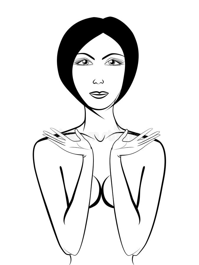 Menina despida bonita ilustração royalty free
