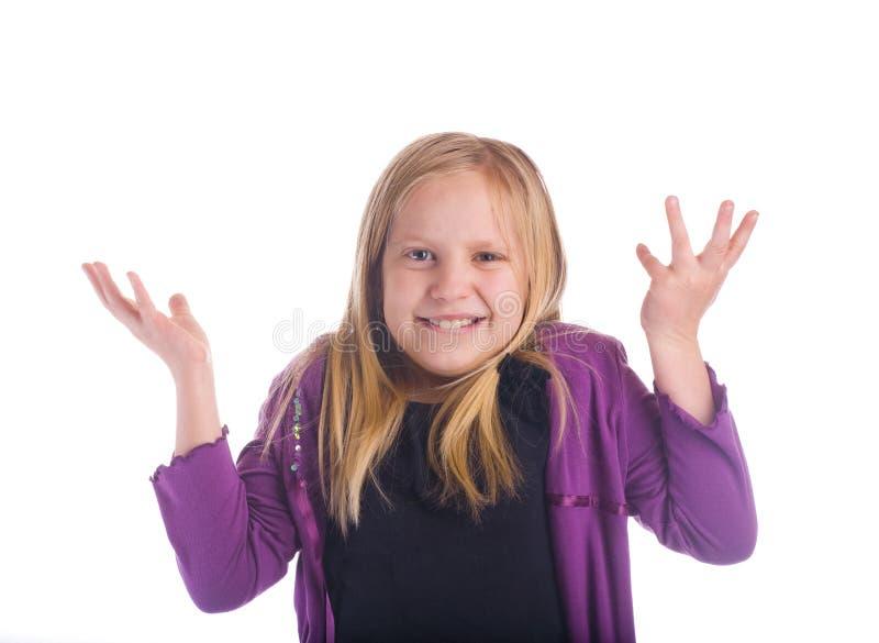 A menina diz que fotografia de stock royalty free
