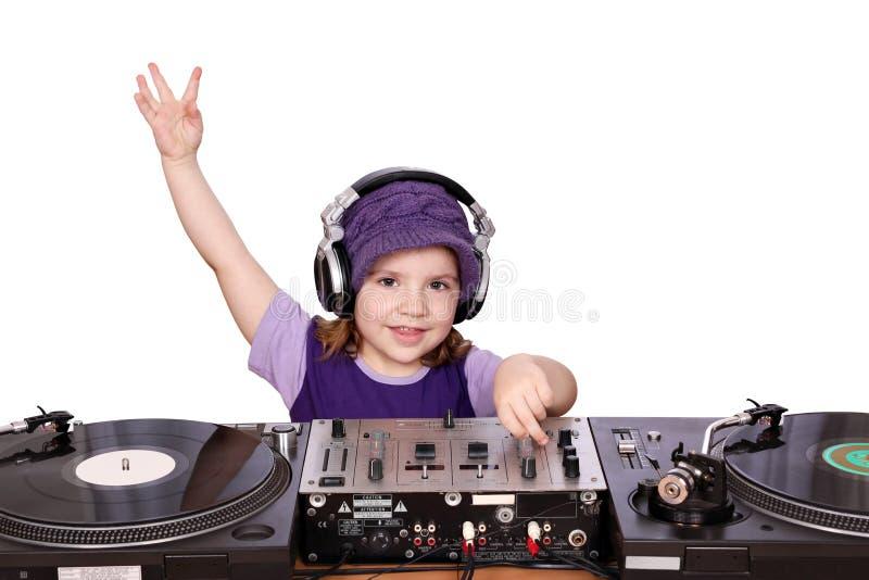 Menina DJ fotos de stock