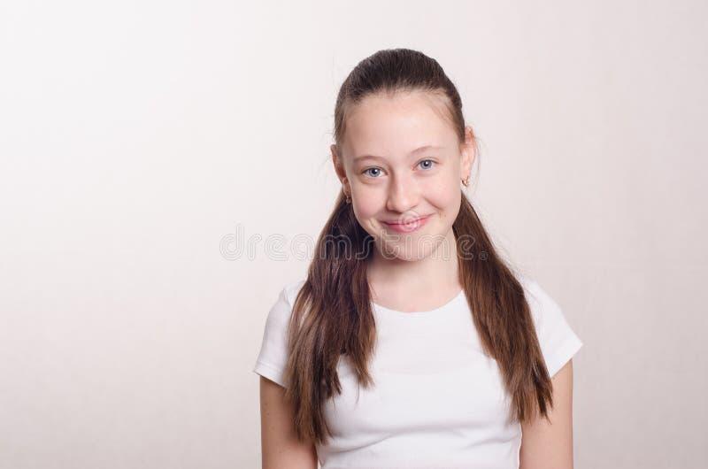 Menina do adolescente de doze anos imagens de stock