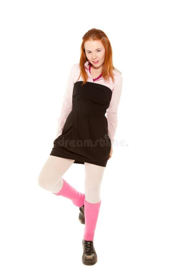 Menina do adolescente que olha à câmera foto de stock